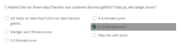 HubSpot-Umfrage-Einfachauswahl