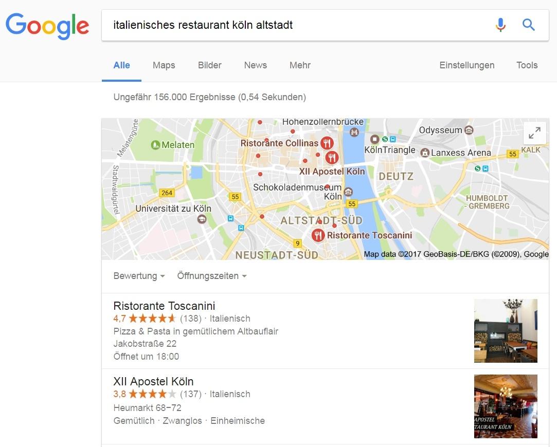 Suchergebnisse für lokale Unternehmen