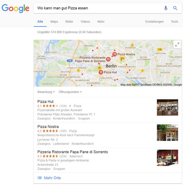 Inhaltserstellung mit Themenclustern – Lokale Suche
