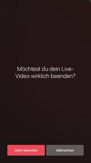 Instagram Livestream beenden