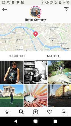 Instagram Stories Standort Sticker