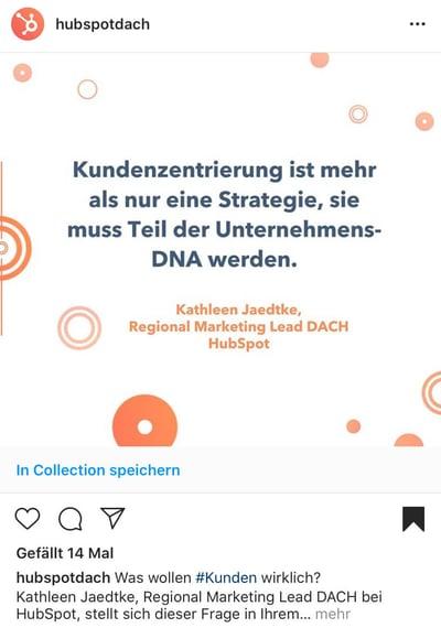Instagram Beiträge in Collection speichern