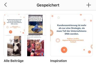 Gespeicherte Beiträge auf Instagram ansehen