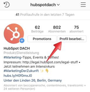 Instagram-Profil-bearbeiten