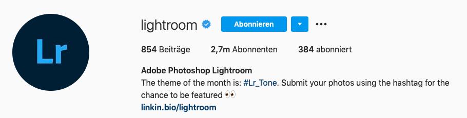 Instagram Hashtags im profil