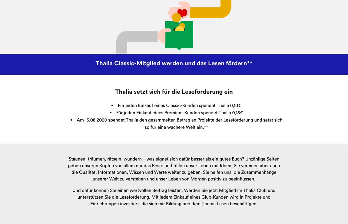 Kundenbindungsprogramm Leseförderung von Thalia