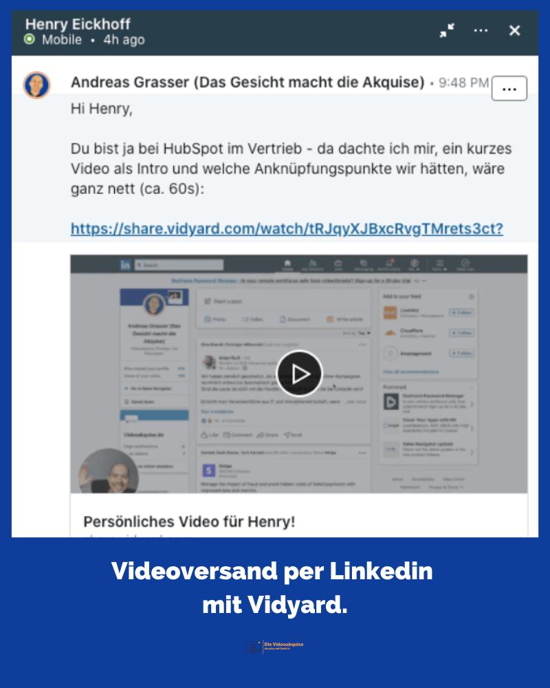 Beispiel Einbettung des Videos bei LinkedIn