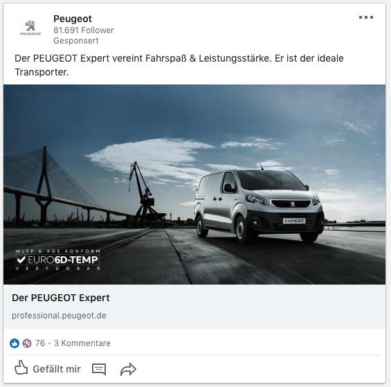 Linkedin-Werbung-Beispiel