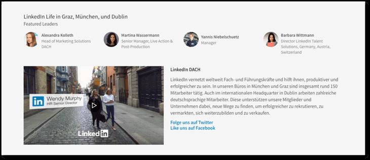 LinkedIn Karriereseite