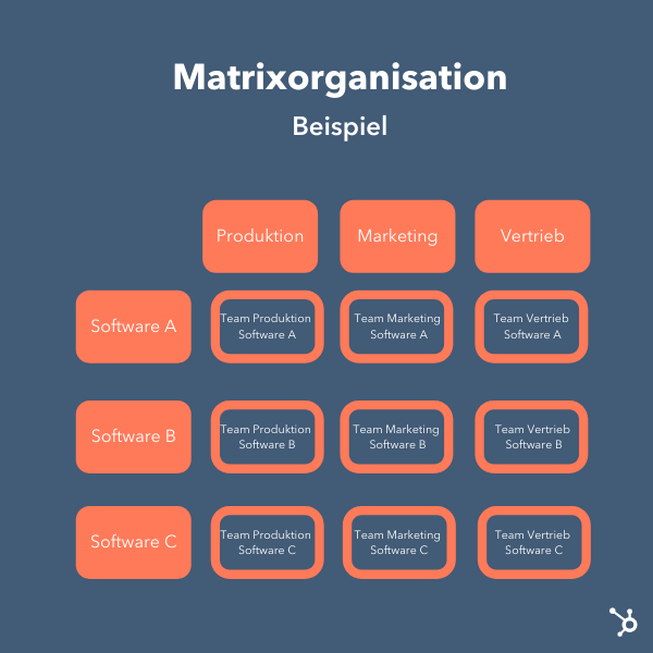 Matrixorganisation-Beispiel