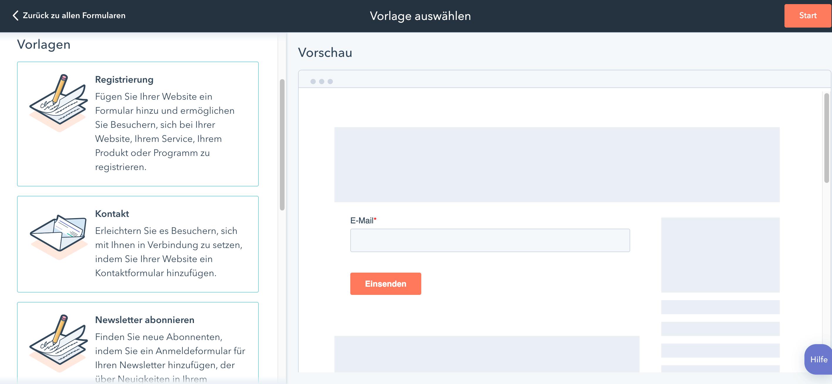Online Quiz erstellen_HubSpot Formular Designer