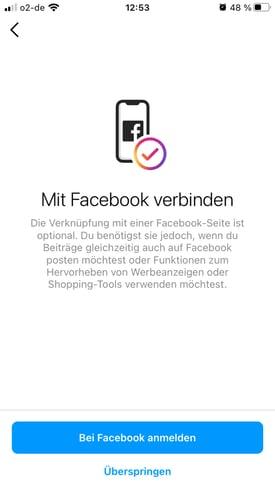Instagram-mit Ihrer Facebook-Seite verknüpfen