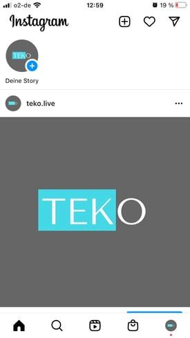 Instagram story erstellen