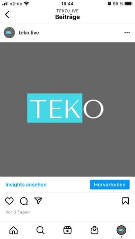 instagram beitrag bei dem unten rechts der button zum hervorheben angezeigt wird