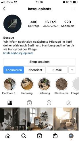 Instagram Business Profil beispiel