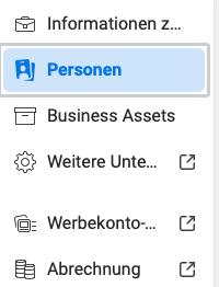 Personen hinzufügen zum facebook business manager