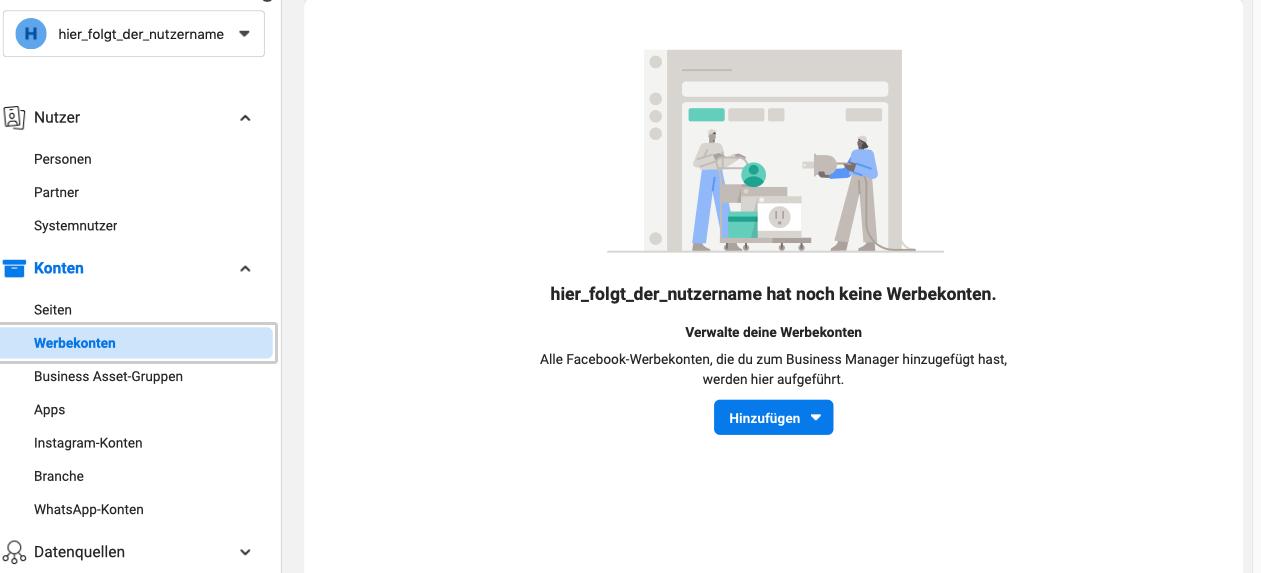 Werbekonto hinzufügen facebook-Business-Manager