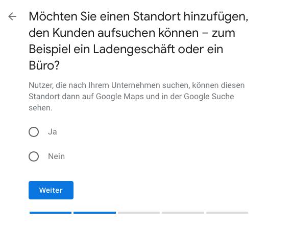 Google My Business Standort anzeigen lassen