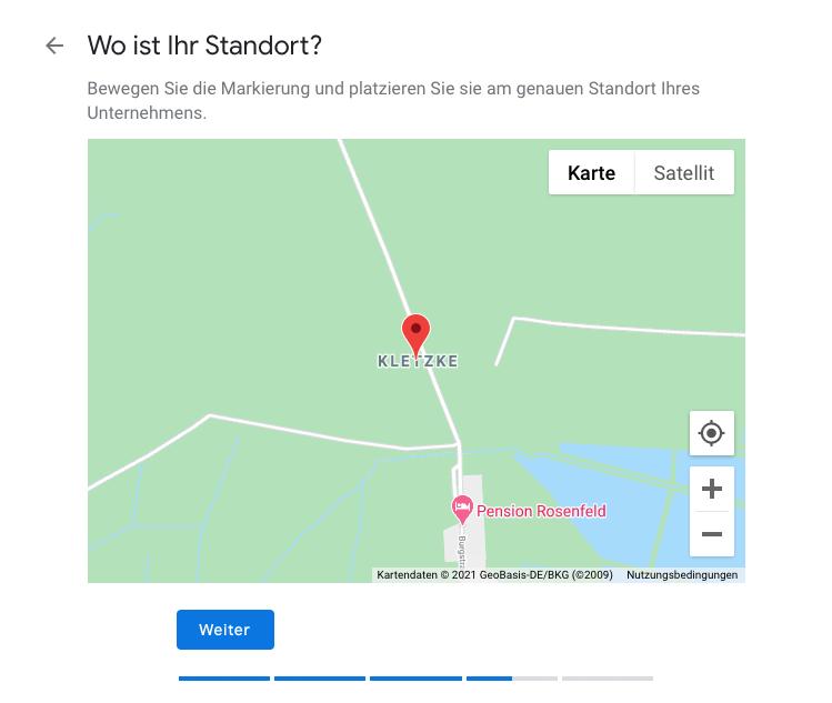 Google My Business Standort in Google Maps auswählen