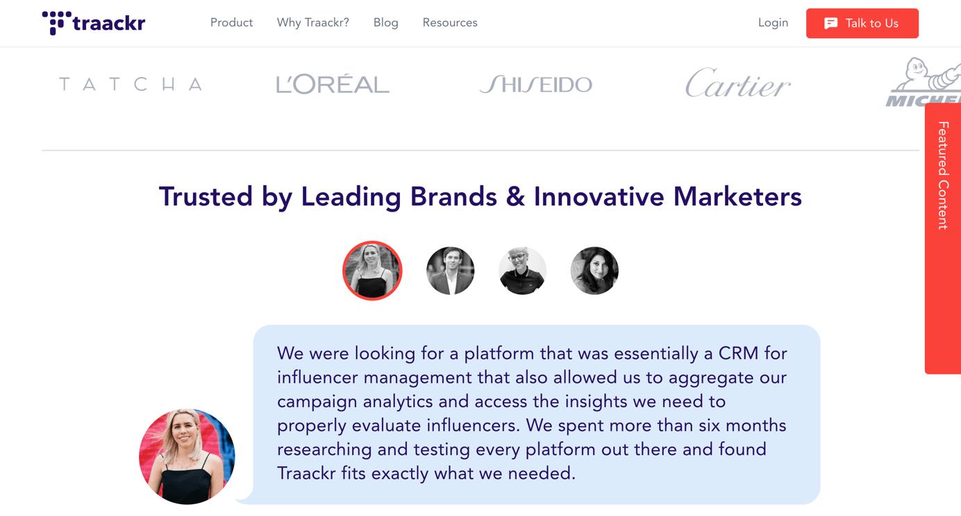 Traackr Influencer Marketing Plattform