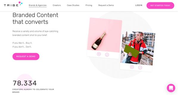 TRIBE Influencer Marketing Plattform