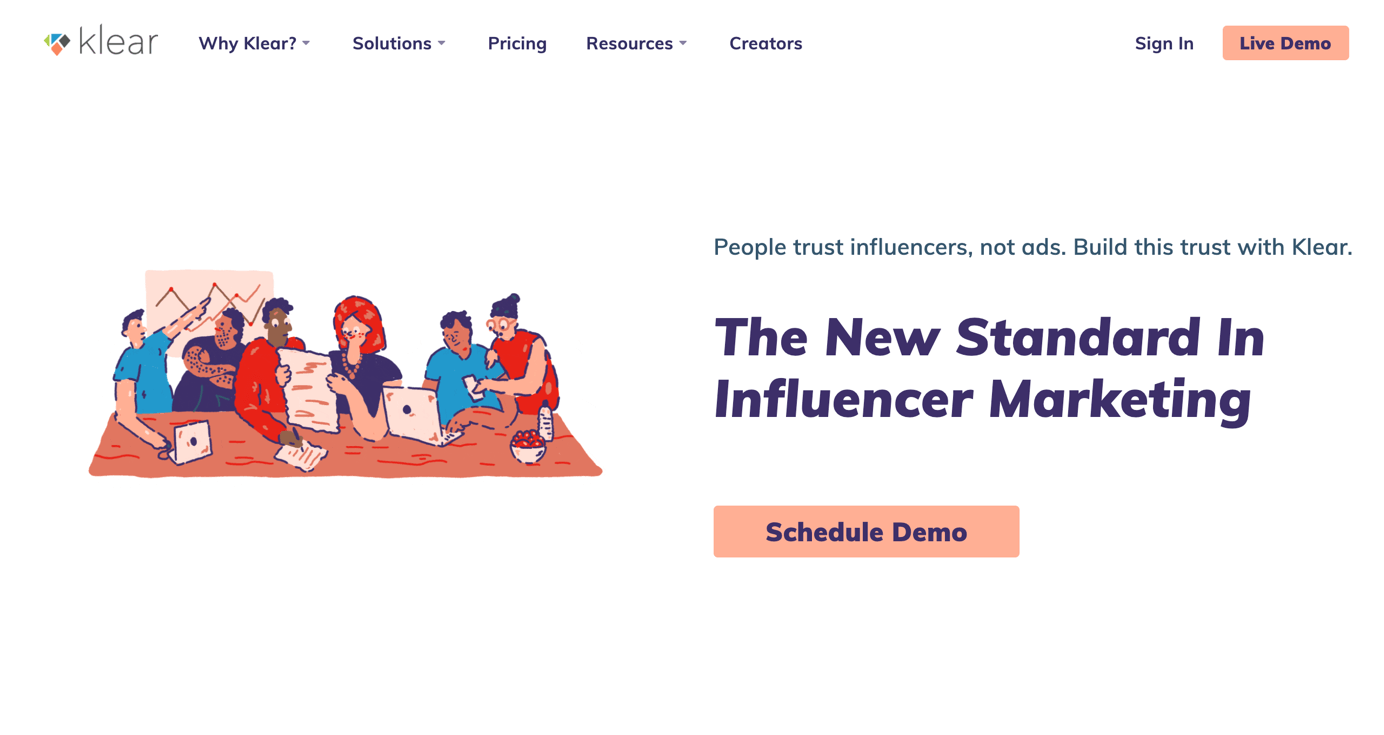 Klear Influencer Marketing Plattform
