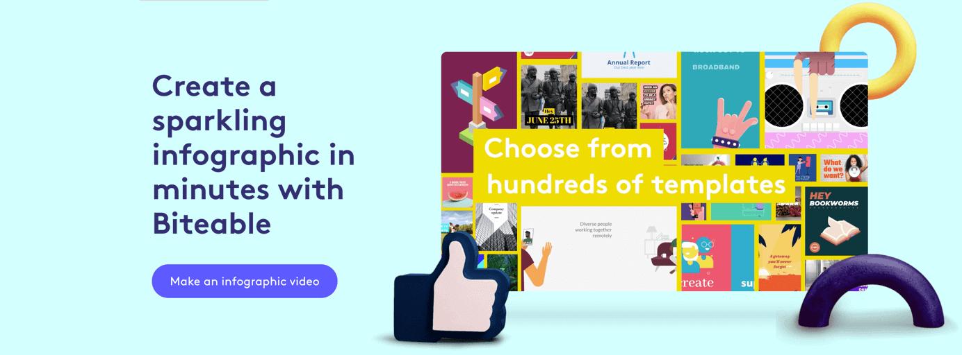 Infografik erstellen mit Biteable