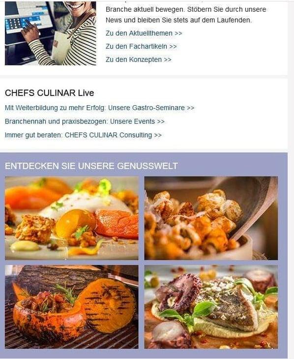 Chefs Culinar beispiel-Nurturing