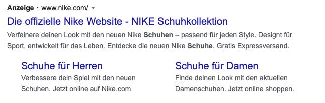 "Screenshot Google-Suche ""Schuhe"""