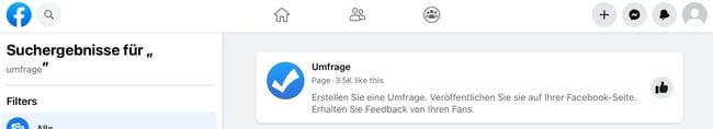 umfrage in facebook auswählen