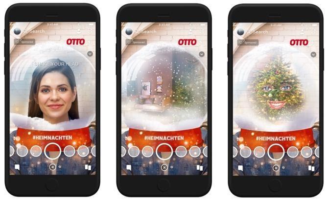 Snapchat Story von Otto in der Internetworld gesehen