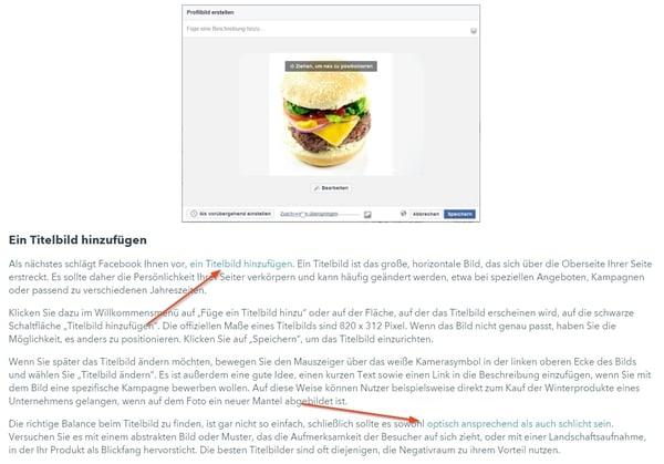 Ausschnitt der Pillar-Seite zum Thema Facebook-Marketing von HubSpot