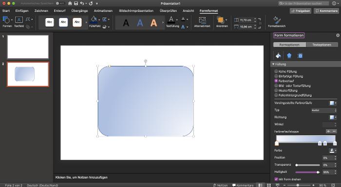 Powerpoint-form-formatieren-farbverlauf-und-schatten