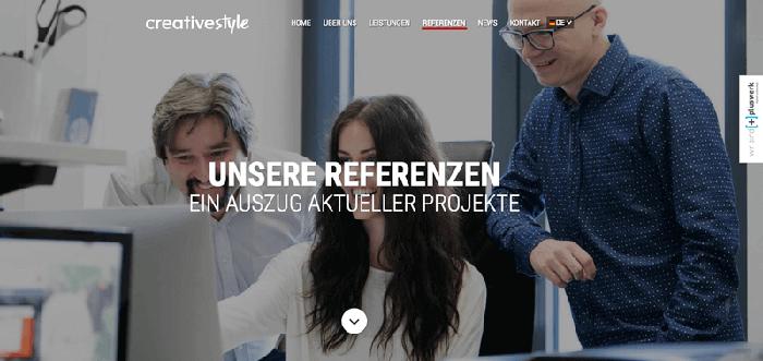Referenzen-Seite-Creativestyle