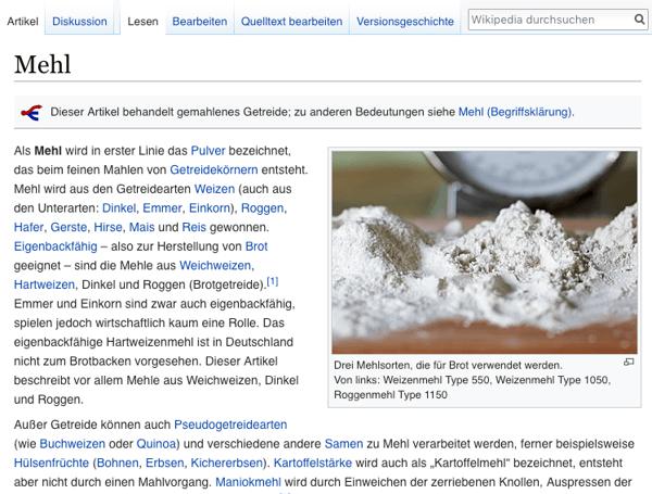 SEO-Wikipedia-Beispiel-mehl