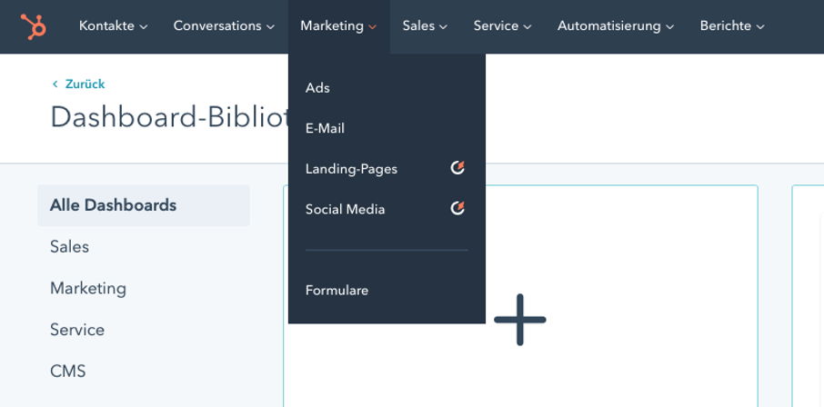 HubSpot Dashboard Library