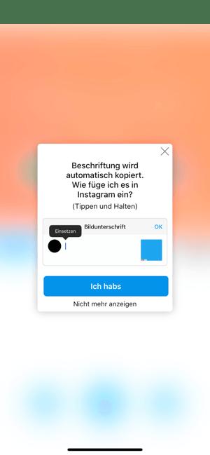 So reposten Sie auf Instagram: Beschriftung wird automatisch kopiert