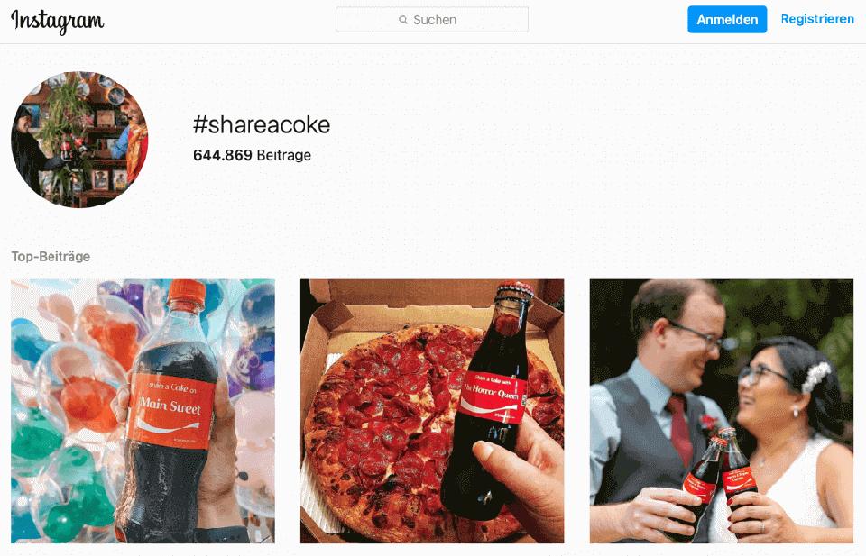 shareacoke kampagne von coca cola 2021