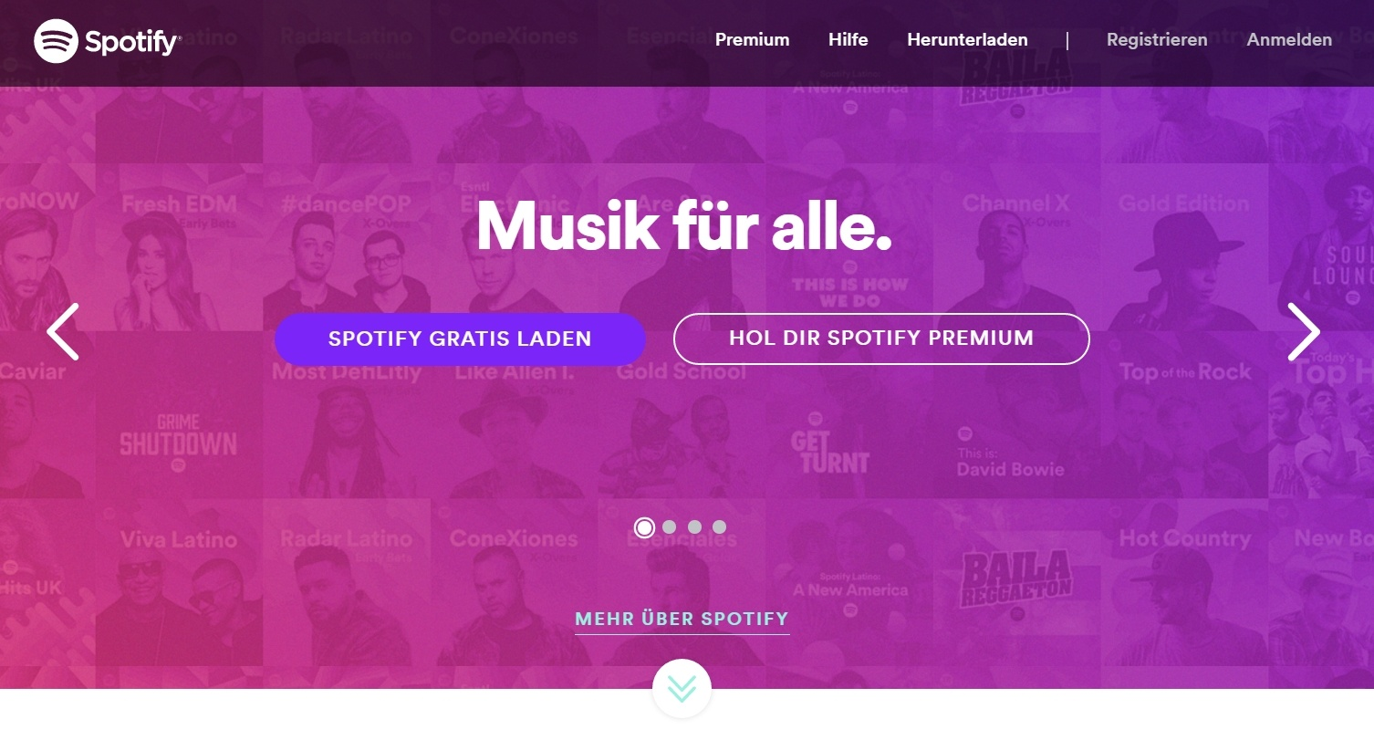 Spotify-Homepage-visuelle-Hierarchie