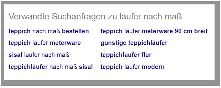 Suchvorschläge für semantische Keywords in Google