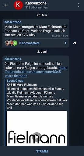 Telegram-Marketing Gruppe der Kassenzone
