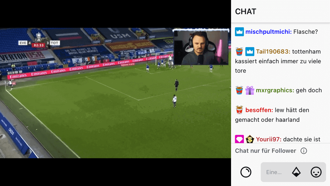 Screenshot aus der Twitch App