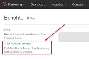 Tracking-URL-Ersteller aufrufen
