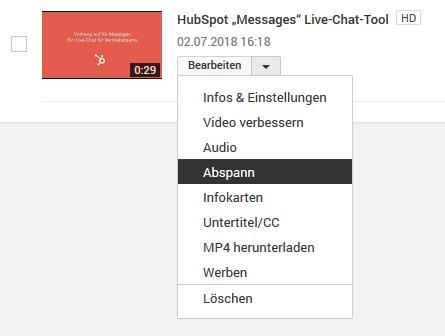 HubSpot-YouTube-Funktionen-Tipps-Tricks-11-Abspann-bearbeiten