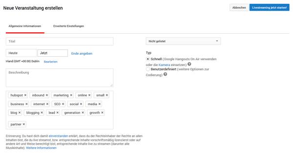 HubSpot-YouTube-Funktionen-Tipps-Tricks-19-Live-Event-Erstellen