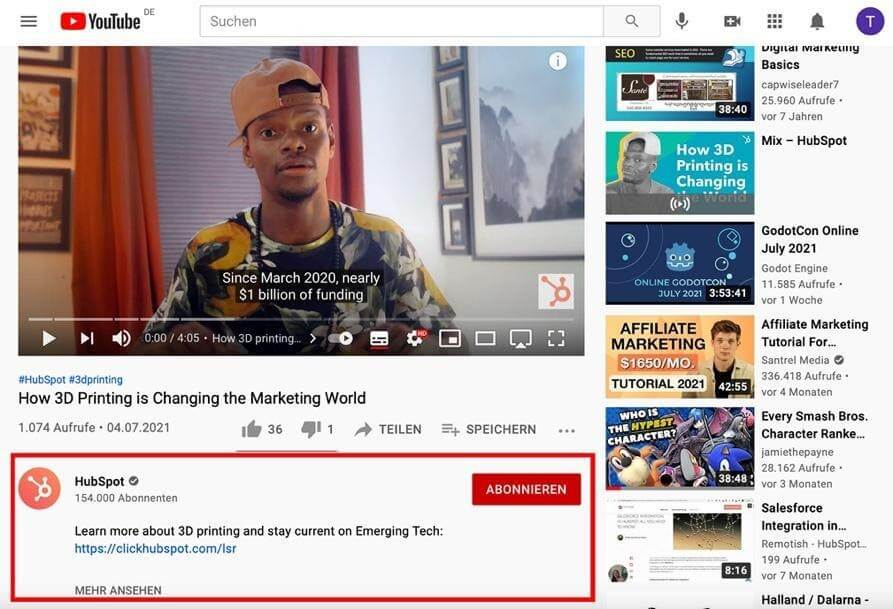 YouTube-Infobox