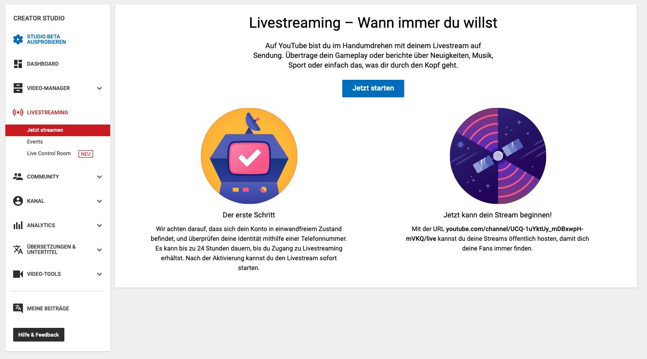 YouTube-Webinar-Livestream-im-creator-studio