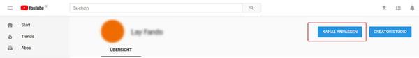YouTube-Kanal anpassen