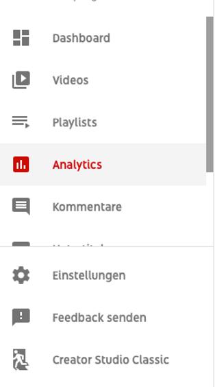 Youtube analytics studio