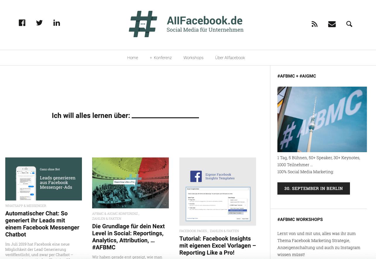 allfacebook-webseite